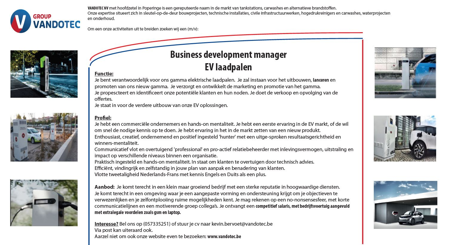 Business Development manager EV laadpalen